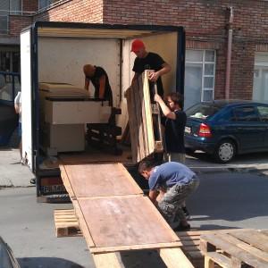 Изграждане на рампа за тежки машини и съоръжения.
